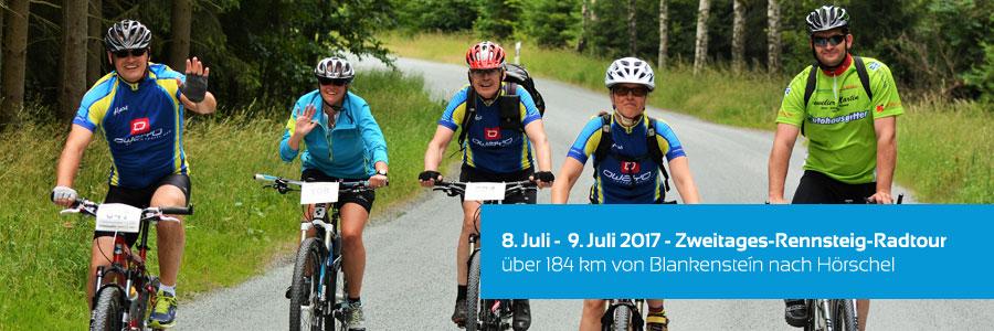 Zweitage-Rennsteig-Radtour